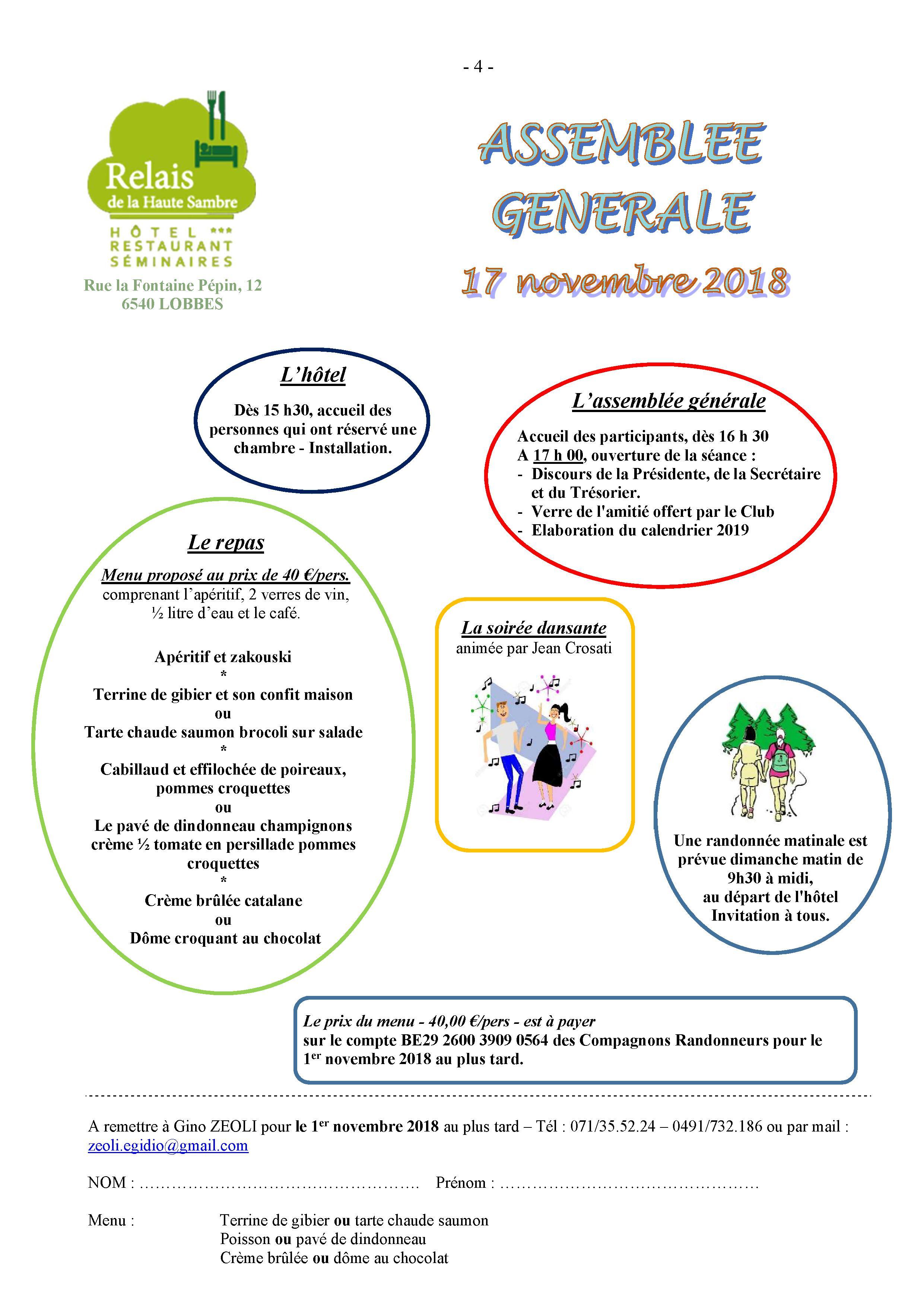 ASSEMBLEE GENERALE 2018- 6540-LOBBES @ Relais de la haute sambre | Lobbes | Wallonie | Belgique